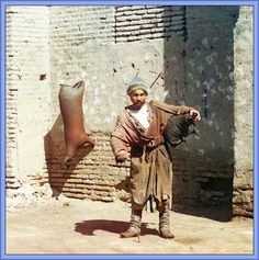 Water-carrier in Samarkand - Samarkand is one of the oldest inhabited cities in the world, prospering from its location on the trade route between China and the Mediterranean (Silk Road). At times Samarkand has been one of the greatest cities of Central Asia.