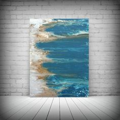 Art Painting Acrylic Paintings Abstract LARGE Wall Art Coastal Beach Home Decor on Canvas by LDawningScott 30 x 40""