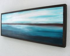 Abstract Landscape Painting on Wood Wall by ModernRusticArt