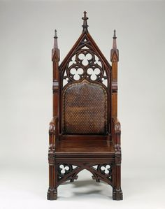 Gothic Inspired Armchair (Gustave Herter, 1855)