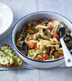 Take some seafood, pasta and a bit of inspiration from the The Hairy Bikers and cook a quick and easy meal for two.