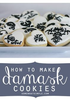 How to make damask cookies - you won't believe how easy this is! I never would have thought to use this trick… #dessertideas