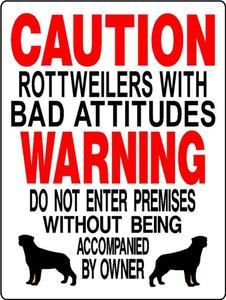 Rottweiler Aluminum Dog Sign D3187