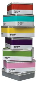 Pantone Color Tin Boxes  - these are very colorful and look practical too. Great Christmas gift.
