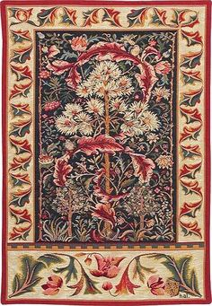 "indigodreams:  ""Acanthus tapestry design by William Morris  """