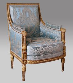 Jean Baptiste Claude sené - Bergère French Furniture, Classic Furniture, Home Decor Furniture, Luxury Furniture, Antique Furniture, Furniture Design, Chair Upholstery, Chair Fabric, Upholstered Chairs