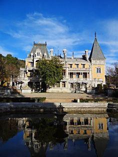 Massadra Palace and courtyard; Yalta; Crimea; Массандровский дворец. Ялта. Крым