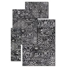 Alcott Hill Atash 4 Piece Black Area Rug Set