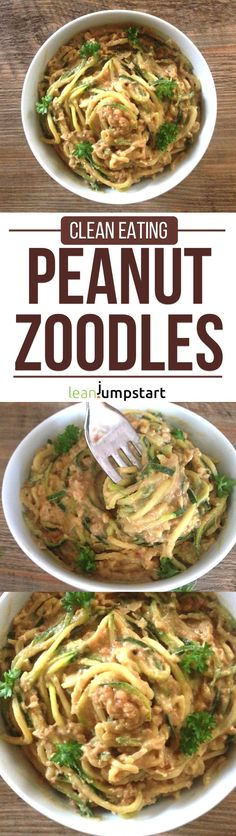 Peanut Butter Noodles: mouth-watering & easy spiralized zucchinis