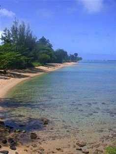 Anini Beach Park, such a gentle place to swim and snorkel