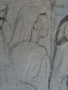 CHASSERIAU Théodore,1846 - Arabe barbu et autres Figures - drawing - Détail 26