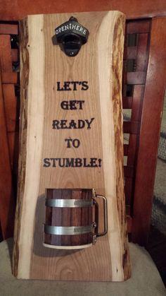 Woodworking Techniques, Woodworking Projects Diy, Diy Wood Projects, Wood Crafts, Woodworking Videos, Woodworking Classes, Woodworking Plans, Diy Bottle Opener, Beer Bottle Opener