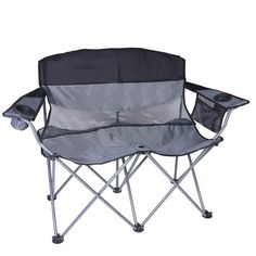 Stansport Apex Double Arm Chair (Black/Silver). Shopswell | Shopping smarter together.™