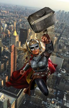 Lady Thor WIP by uncannyknack.deviantart.com on @DeviantArt