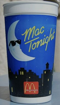 Its a Big Mac kinda night. These were the cups from McDonalds back in the day... The commercials also had the moon with the sunglasses. #BackInTheDay #SiliconValley #Retro
