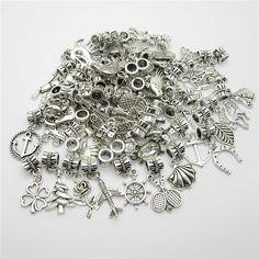 Mixed 50pcs Tibetan Silver Bead Charms big hole pendant fit for pandora style bracelet DIY pendants for jewelry making♦️ B E S T Online Marketplace - SaleVenue ♦️👉🏿 http://www.salevenue.co.uk/products/mixed-50pcs-tibetan-silver-bead-charms-big-hole-pendant-fit-for-pandora-style-bracelet-diy-pendants-for-jewelry-making/ US $5.17