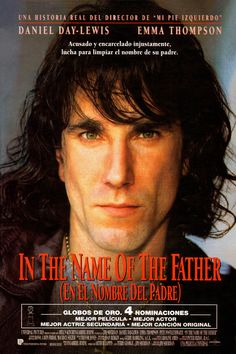 In the Name of the Father starring Daniel Day-Lewis, Emma Thompson, Pete Postlethwaite, and John Lynch; directed by Jim Sheridan Top Movies, Great Movies, Movies To Watch, Movies And Tv Shows, Movies Free, Emma Thompson, Films Étrangers, Films Cinema, Love Movie