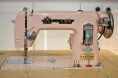 My vintage pink Atlas sewing machine! Handed down through the generations from my great-grandmother.