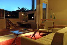 Integração quarto/sala-área externa.  Hotel em Palermo, Buenos Aires