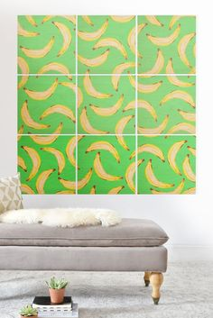 Lisa Argyropoulos Gone Bananas Green Wood Wall Mural | DENY Designs Home Accessories