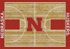 Nebraska Rug University Basketball Court