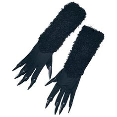 Amazon.com: Black Cat Gloves With Claws: Clothing ($9.95) ❤ liked on Polyvore featuring accessories, gloves and claw gloves