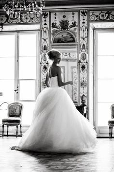 Vera Wang wedding dress- perfect amount of fluff :)