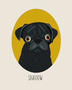 Dog memorial Pet memorial Pet loss gift Custom #art #drawing @EtsyMktgTool http://etsy.me/2y9USDc #customdogportrait #dogmemorialgift