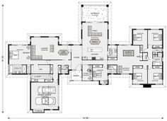 Mansfield Design Ideas, Home Designs in Gympie 6 Bedroom House Plans, Dream House Plans, House Floor Plans, My Dream Home, Modern House Design, Home Design, Design Ideas, Interior Design, House Blueprints