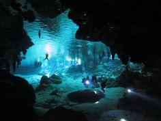 "Mexican Cenotes  Cenote diving The Yucatan region around Cancun has an estimated 7,000 of these limestone ""sinkholes"" Cenotes go all the way back to Mayan ritual use"