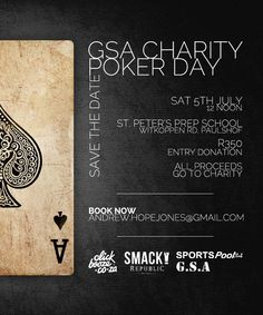 Why not turn your hobby or passion into an opportunity to fundraise for Qhubeka? For example, if playing poker is your idea of a great evening, why not organise a tournament and donate the proceeds… Prep School, Fundraisers, Poker, Charity, Tech, Day, Technology
