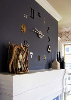 80 εκπληκτικά ρολόγια τοίχου που θα φτιάξετε μόνοι σας   {Μέρος 1ο}. Silver Wall  ClockDiy ...