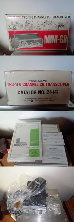 CB Radios: Vintage Realistic Radio Shack Trc-11 Mini 6 Channel Cb Radio New In Box BUY IT NOW ONLY: $150.0