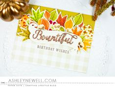 Project by Ashley Cannon Newell for Papertrey Ink - August 2016 - #AshleyCannonNewell #PaperSuite #PapertreyInk - Color Pop: Autumn