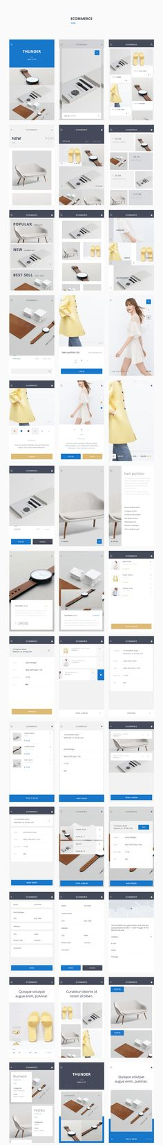 uikit shop Thunder UI Kit - Love a good success story? Learn how I went from zero to 1 million in sales in 5 months with an e-commerce store. Mobile Web Design, Web Ui Design, Ecommerce App, Ui Web, Responsive Web, Mobile App Ui, Apps, Application Design, Interface Design