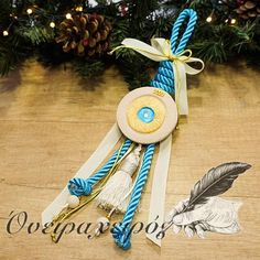 Εντυπωσιακό γούρι με κεραμικό μάτι δώρο για εγκαίνια Christmas Home, Christmas Gifts, Christmas Ornaments, Lucky Charm, Dream Catcher, Wedding Photography, Easter, Charmed, Craft Ideas