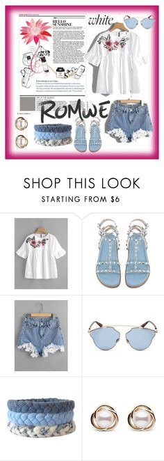"""""""Romwe"""" by meri55 ❤ liked on Polyvore featuring Christian Dior and Trilogy"""