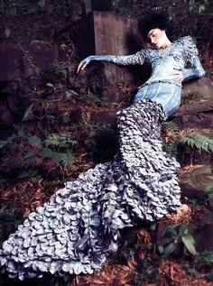 Elle Vietnam October 2012 by Stockton Johnson, sleeping in the wood...