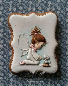 """""""#cute#handmade #angel #painting #gingerbread #cookies"""""""