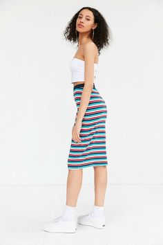 OBEY Darkside Ribbed Midi Skirt - Urban Outfitters