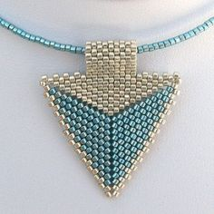 Modern Silver and Turquoise Arrowhead Choker 2119  A by SandFibers, $22.00
