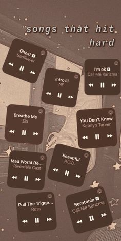 Music Mood, Mood Songs, Music Quotes, Music Songs, Playlist Names Ideas, Good Vibe Songs, Heartbreak Songs, Throwback Songs, Depressing Songs