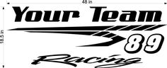 Racing Team Name Trailer Decal - Vinyl Decal - Custom Text -Trailer Sticker - YT04