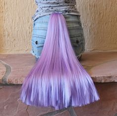 Princess Luna tail - clip on pony tail costume cosplay - my little pony - friendship is magic - purple horse tail. $35.00, via Etsy.