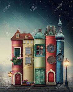 Find Magic City Old Books stock images in HD and millions of other royalty-free stock photos, illustrations and vectors in the Shutterstock collection. Thousands of new, high-quality pictures added every day. Art Fantaisiste, Magic City, House Illustration, Book Nooks, Fairy Houses, Whimsical Art, Altered Books, Book Crafts, Belle Photo