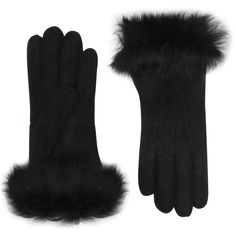 UGG Australia Toscana Long Cuff Glove  Shoes ($130) ❤ liked on Polyvore featuring accessories, gloves and black