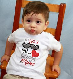 if you mustache my heart belongs to mommy the cutest little valentines day shirt