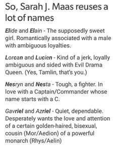 This isn't perfect, but it's a pretty spot on analysis. Minus a few details (Mor is lesbian) Throne Of Glass Books, Throne Of Glass Series, A Court Of Wings And Ruin, A Court Of Mist And Fury, Book Memes, Book Quotes, Acotar Funny, Sara J Maas, Crown Of Midnight