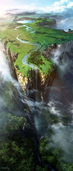 Fantasy world. Fantasy world. Best Picture For japan Anime Art For Your Taste You are looking for something, and it is going to tell you exactly what you are looking for, and you Environment Concept, Environment Design, Fantasy Places, Fantasy World, Fantasy Forest, Fantasy Landscape, Landscape Art, Landscape Paintings, Landscape Concept