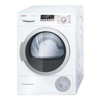 Bosch WTW85250GB Heat Pump Tumble Dryer - White, White